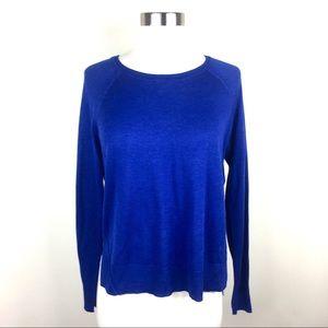 Zara Knit Cobalt Blue Sweater